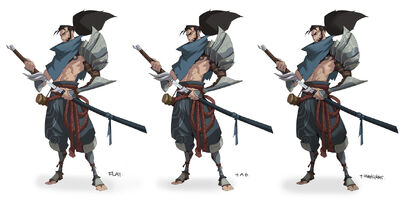 Yasuo Brüder der Blutbefleckten Klinge Konzept 06
