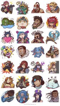 League of Legends Facebook Emotes