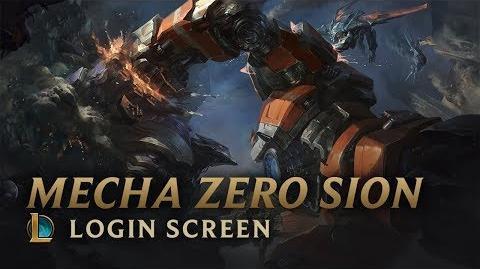 Mecha Zero Sion - ekran logowania