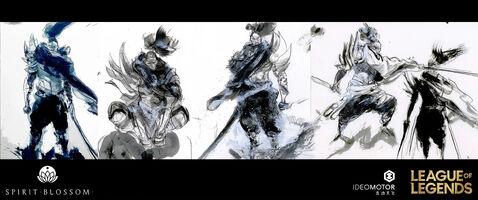 Yasuo Brüder der Blutbefleckten Klinge Konzept 15