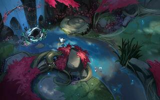 Tempel der Lilie und des Lotus Konzept 02