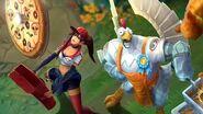 Цыпленок и доставщица пиццы Трейлер образов ко Дню едока – League of Legends