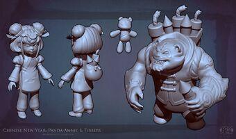 Annie Panda- Skulptur