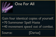2021 One For All tooltip