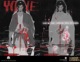 Yasuo Yone Brüder der Blutbefleckten Klinge Konzept 10