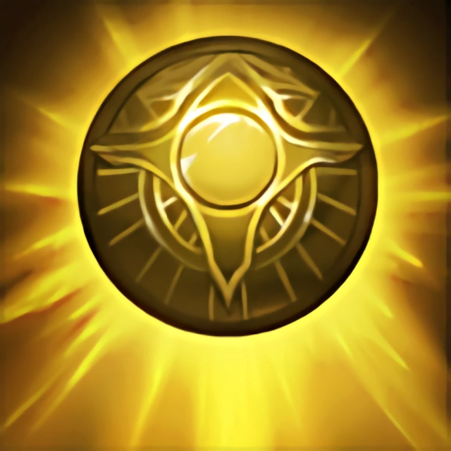 Verschlissenes Amulett des Aufstiegs