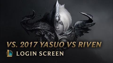 Versus 2017 (Yasuo vs Riven) - ekran logowania