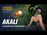 Akali Champion Overview - Gameplay - League of Legends- Wild Rift