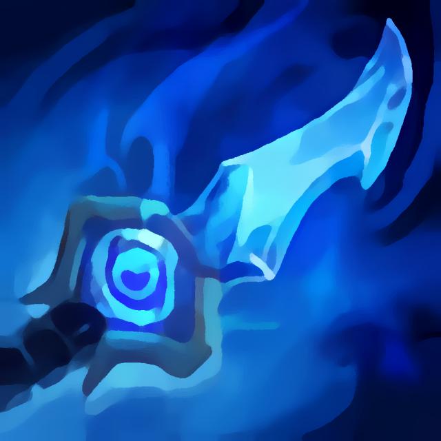 Auge des Frosts