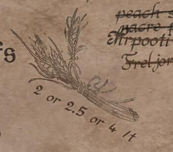 A drawing of Freljordian Grain.