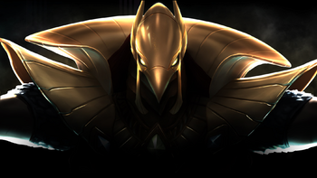 The Ascended God-Warrior known as Azir.