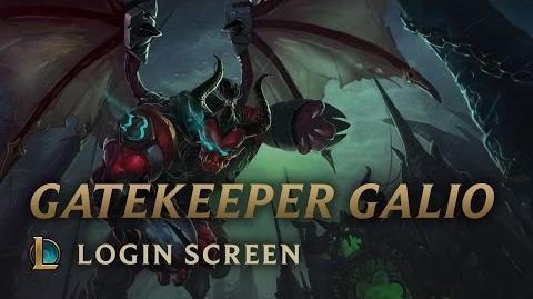 Gatekeeper Galio - Login Screen