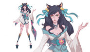 Ahri SpiritBlossom Kin of the Stained Blade Concept 01