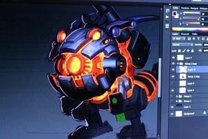 Kog'Maw Stahlkrieger- Konzept 01