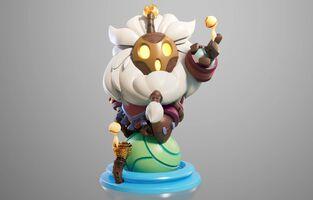 Bard Statue model 01
