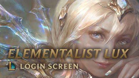 Elementalist Lux - Login Screen