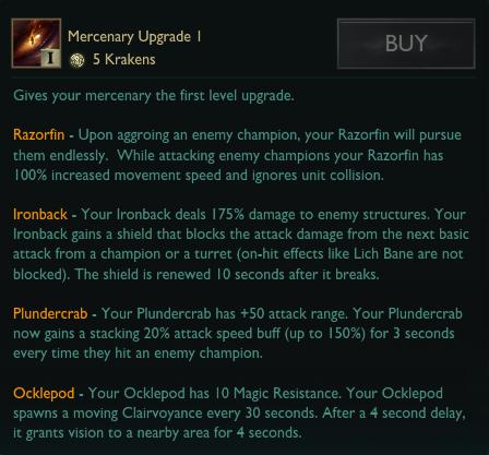 Mercenary Upgrades