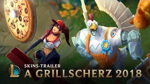 """Brathähnchen und Pizzabotin """"A Grillscherz""""-Skins-Trailer – League of Legends"""