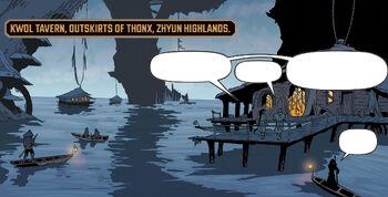 Kwol Tavern on the outskirts of Thonx.