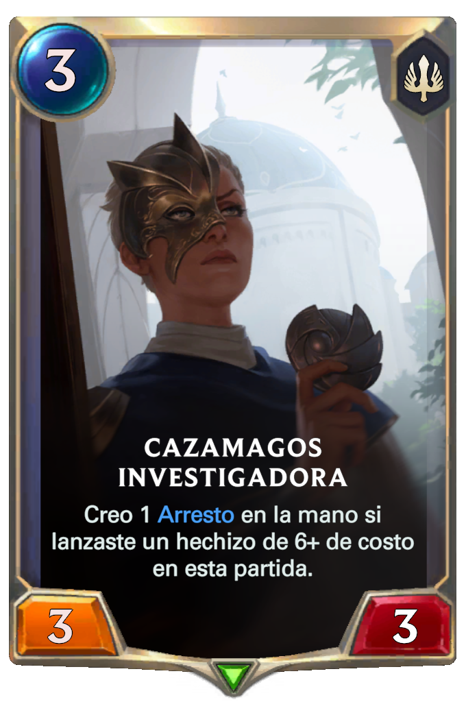 Cazamagos Investigadora (Legends of Runeterra)