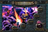 League of Legends Turret Defense Title Screen