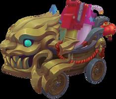 Cart Fireworks TempleofLilyandLotus Render