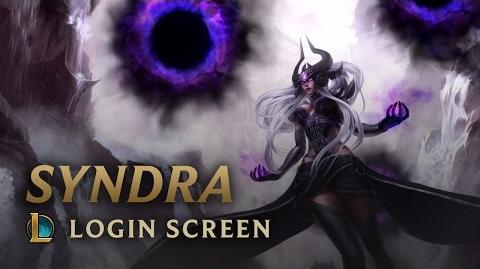 Syndra, the Dark Sovereign - Login Screen