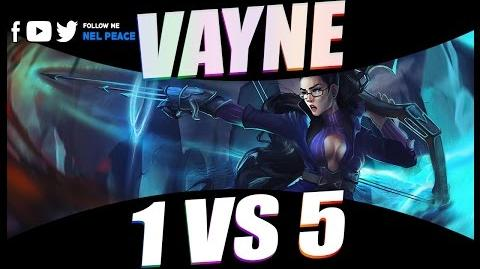 Epic Vayne 1 v 5 Pentakills Compilations - Best Vayne Plays