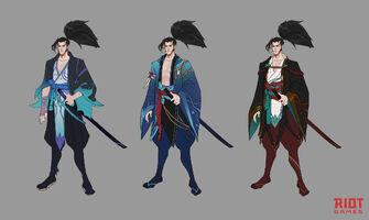 Yasuo Brüder der Blutbefleckten Klinge Konzept 01