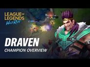 Draven Champion Overview - Gameplay - League of Legends- Wild Rift