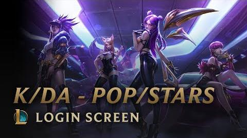 KDA POPSTARS - Login Screen