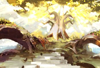 The Spirit Tree called the Golden Tree of Peace, situated in the spirit realm.