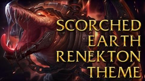 LoL Login theme - Chinese - 2014 - Scorched Earth Renekton