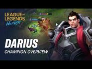 Darius Champion Overview - Gameplay - League of Legends- Wild Rift