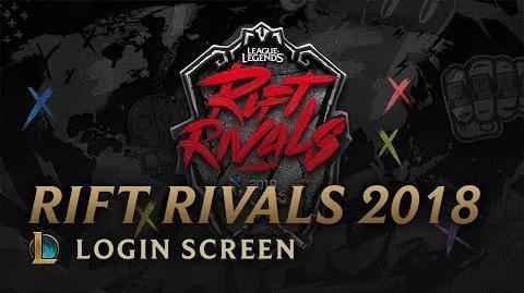 Rift Rivals 2018 - ekran logowania