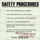 Sign safety procedures