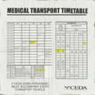 Sign hotel timetable