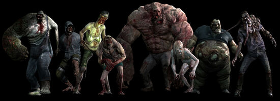 Current Special Infected, from left to right: Charger, Hunter, Spitter, Jockey, Tank, Witch, Boomer, Smoker.