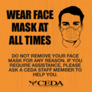 Sign hotel face mask