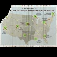 Карта с точками эвакуации