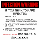 Sign infection warning