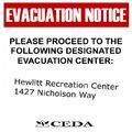 Evacuationnotice display