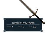 Двуручный Меч Балгруфа