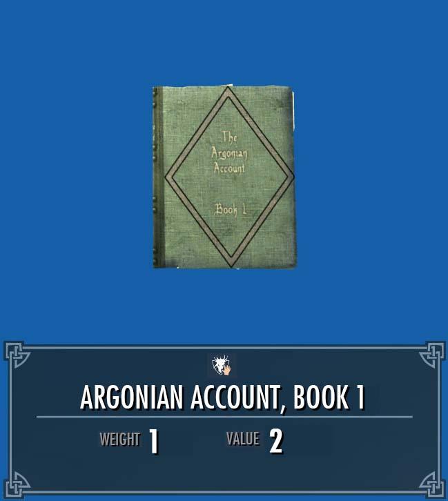 Argonian Account, Vol. 1