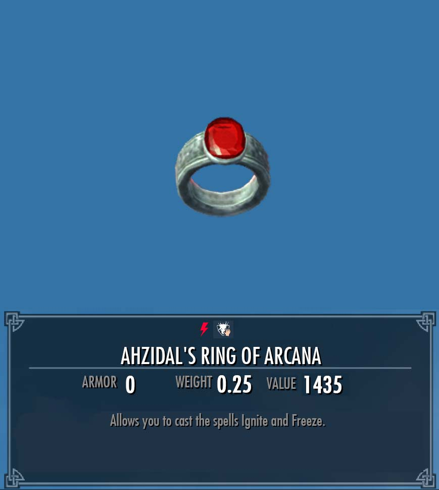 Ahzidal's Ring of Arcana