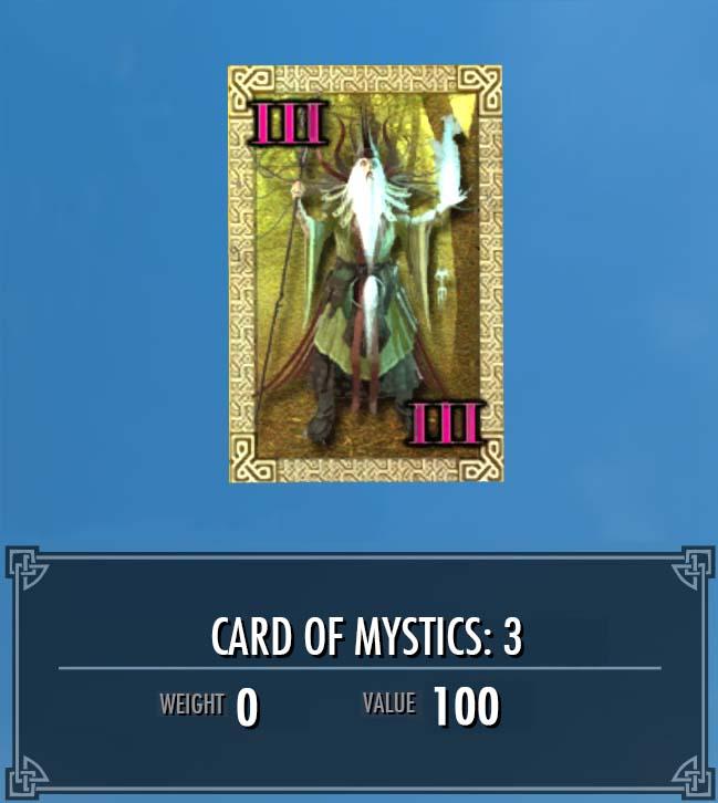 Card of Mystics: 3