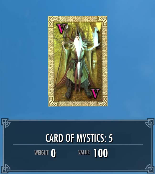 Card of Mystics: 5