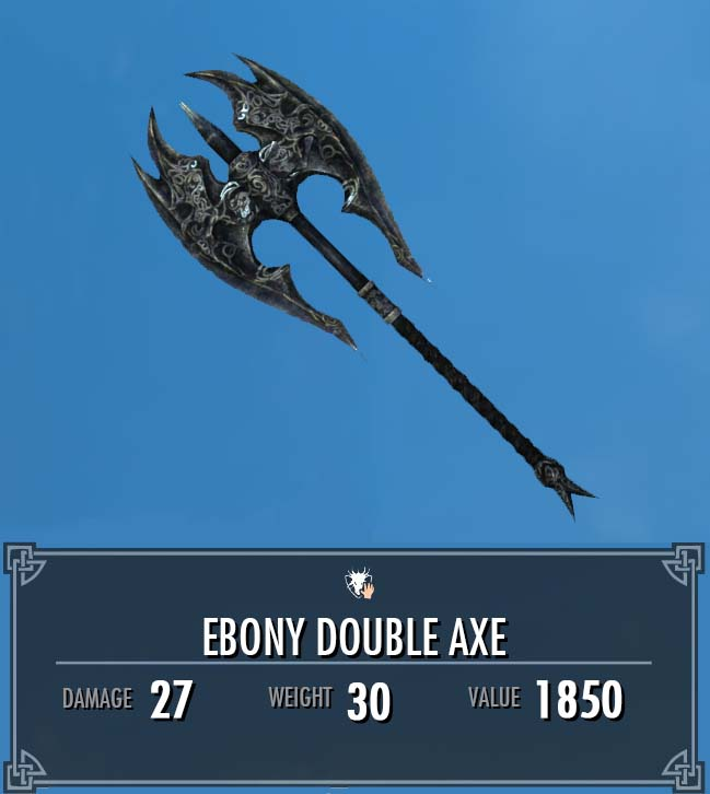 Ebony Double Axe