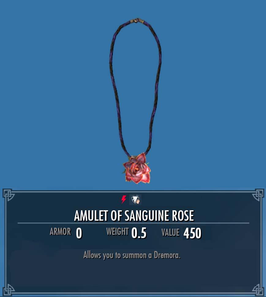 Amulet of Sanguine Rose