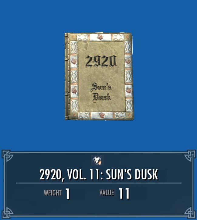 2920, Vol. 11: Sun's Dusk